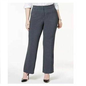 JM Collection 20WP Blue Straight Leg Pants 5AM63